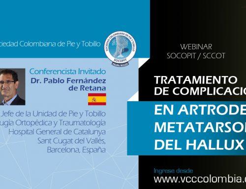 Webinar Tratamiento de complicaciones en Artrodesis Metatarsofalángicas del Hallux